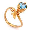 Кольцо с топазом (голубым) SL-0245-393 весом 3.93 г  стоимостью 22008 р.