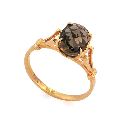 Золотое кольцо с раухтопазом 2.5 г SL-0265-226