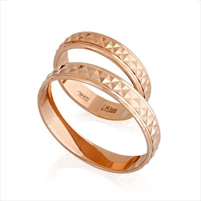 Обручальные кольца золотые 6.32 г E108005