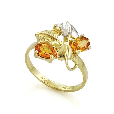 Кольцо с сапфиром и бриллиантом 3.33 г SL-0190-333