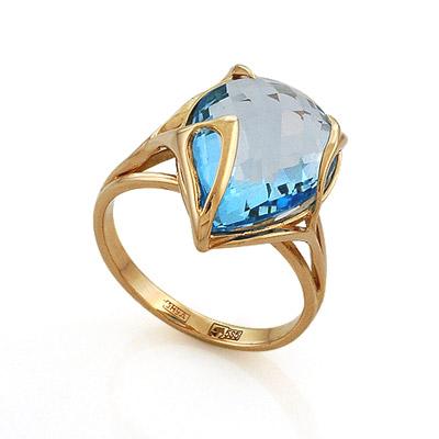 Кольцо с топазом (голубым) 5.95 г SL-2140-GT
