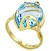 Кольцо с топазом (голубым) SL-2140-GT весом 5.21 г  стоимостью 29176 р.