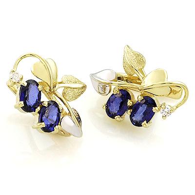 Синие сапфиры и бриллианты 5.35 г SL-390-535