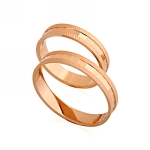 Обручальные кольца золотые E108028 весом 2.92 г  стоимостью 8010 р.