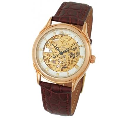 """Мужские золотые часы """"Скелетон"""" 31 г AN-41950.156"""