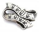 Пряжка для ремня серебро «TRUE LOVE» SLY-7001 весом 120 г