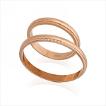 Кольца обручальные E108001 весом 3.8 г  стоимостью 10424 р.