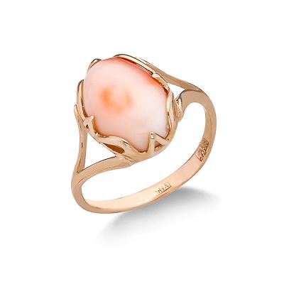 Розовый коралл в золоте 4 г SL-2103-400