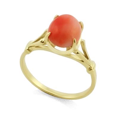 Кольцо с натуральным кораллом 2.35 г SL-0265-234