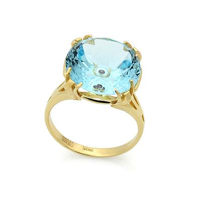 Кольцо с голубым топазом 15 мм 7 г SL-2847-700