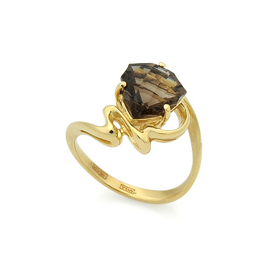 Кольцо с раухтопазом 4.55 г SL-2207-455