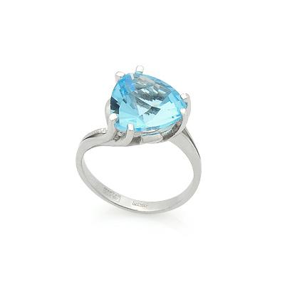 Кольцо с голубым топазом в белом золоте 3.65 г SL-2843-705