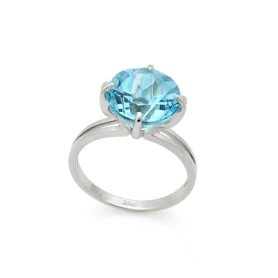 Голубой топаз в белом золоте 3.4 г SL-2841-330