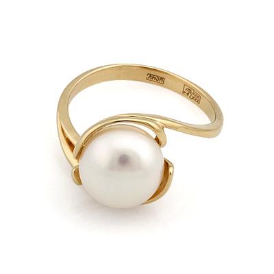 Кольцо с белым жемчугом 3.7 г SL-2837-370