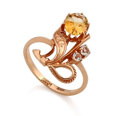 Кольцо с цитрином 3.39 г SL-0227-340