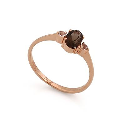Кольцо с раухтопазом в золоте 2.1 г SL-0213-110