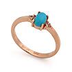 Золотое кольцо с бирюзой и бесцветными топазами SL-0213-205 весом 2.03 г  стоимостью 9846 р.
