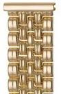 Браслет для часов из золота 42023-1 весом 44 г  стоимостью 158356 р.