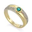 Золотое кольцо с изумрудом и бриллиантами SLV-K226 весом 4.2 г  стоимостью 78660 р.
