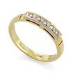 Золотое кольцо с бриллиантами SLV-K083 весом 2.27 г  стоимостью 18000 р.