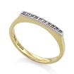 Золотое кольцо с бриллиантами SLV-K093 весом 2.3 г  стоимостью 16740 р.
