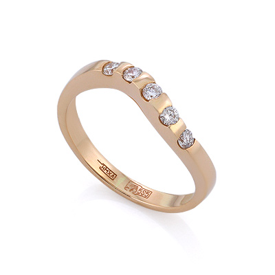 Золотое кольцо с бриллиантами 2.48 г SLV-K236