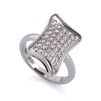 Золотое кольцо с бриллиантами 5.36 г SLV-K247