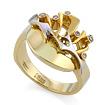 Золотое кольцо с бриллиантами SLV-K001 весом 6.12 г  стоимостью 37800 р.