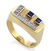 Золотой перстень с сапфирами и бриллиантами SLV-K005 весом 5.54 г  стоимостью 42300 р.