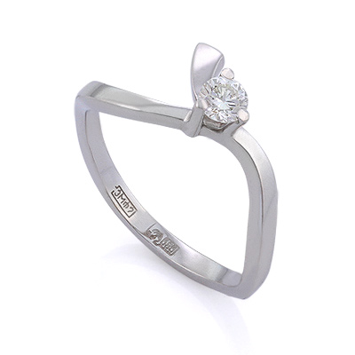 Золотое кольцо с бриллиантами 2.5 г SLV-K270
