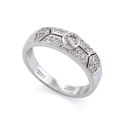 Золотое кольцо с бриллиантами 4.73 г SLV-K233