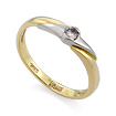 Золотое кольцо с бриллиантами SLV-K130 весом 2.5 г  стоимостью 22860 р.