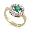 Золотое кольцо с изумрудом в кольце бриллиантов SLV-K284 весом 3.87 г  стоимостью 153900 р.