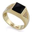 Золотое кольцо с бриллиантами и агатом SLV-K373 весом 5.87 г  стоимостью 41400 р.