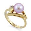 Золотое кольцо с розовым жемчугом и бриллиантами SLV-K074 весом 5.32 г  стоимостью 28620 р.