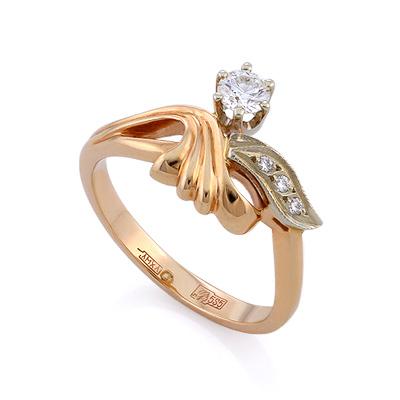 Золотое кольцо с бриллиантами 3.82 г SLV-K321