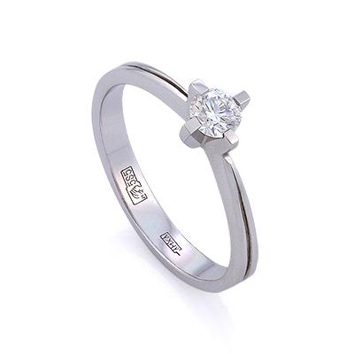 Золотое кольцо с бриллиантами 2.12 г SLV-K420