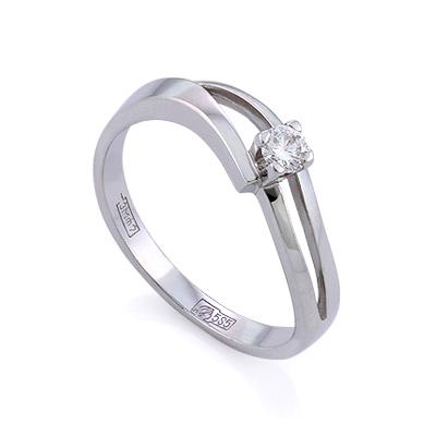 Золотое кольцо с бриллиантами 2.17 г SLV-K269