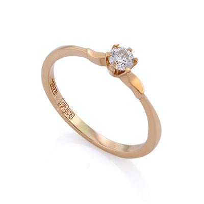 Золотое кольцо с бриллиантами 1.33 г SLV-K416