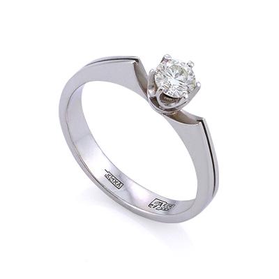 Золотое кольцо с бриллиантами 2.74 г SLV-K342