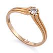 Золотое кольцо с бриллиантами SLV-K417 весом 1.55 г  стоимостью 18000 р.