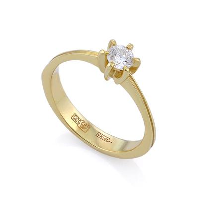 Золотое кольцо с бриллиантами 2.11 г SLV-K392