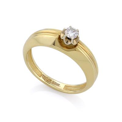Золотое кольцо с бриллиантами 3.79 г SLV-K333