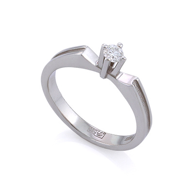 Золотое кольцо с бриллиантами 3 г SLV-K386