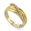 Золотое кольцо с бриллиантами SLV-K323 весом 4.47 г  стоимостью 32400 р.