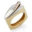 Золотое кольцо с бриллиантами SLV-K022 весом 7.3 г  стоимостью 41940 р.