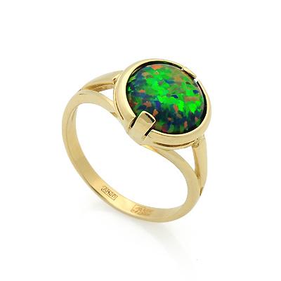 Кольцо с зеленым опалом 3.7 г SL-2844-370