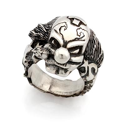 Мужское серебряное кольцо клоун 36 г
