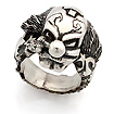 Мужское серебряное кольцо «Клоун» SLY-0107 весом 36 г  стоимостью 12900 р.