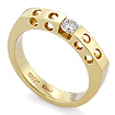 Золотое кольцо с бриллиантами SLV-1114 весом 5.55 г  стоимостью 55800 р.